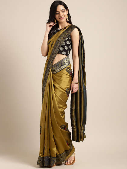 style your heavy work silk sarees